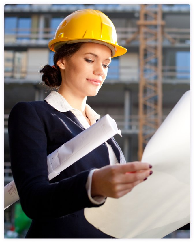 lady in construction planning