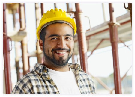 smiling construction worker