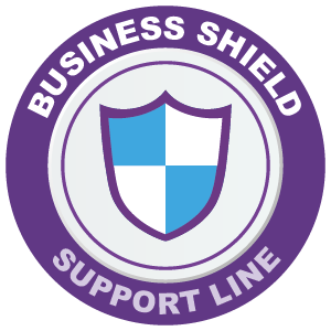 image of business shield support line logo - chas membership benefits