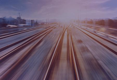 blurred image of rail tracks