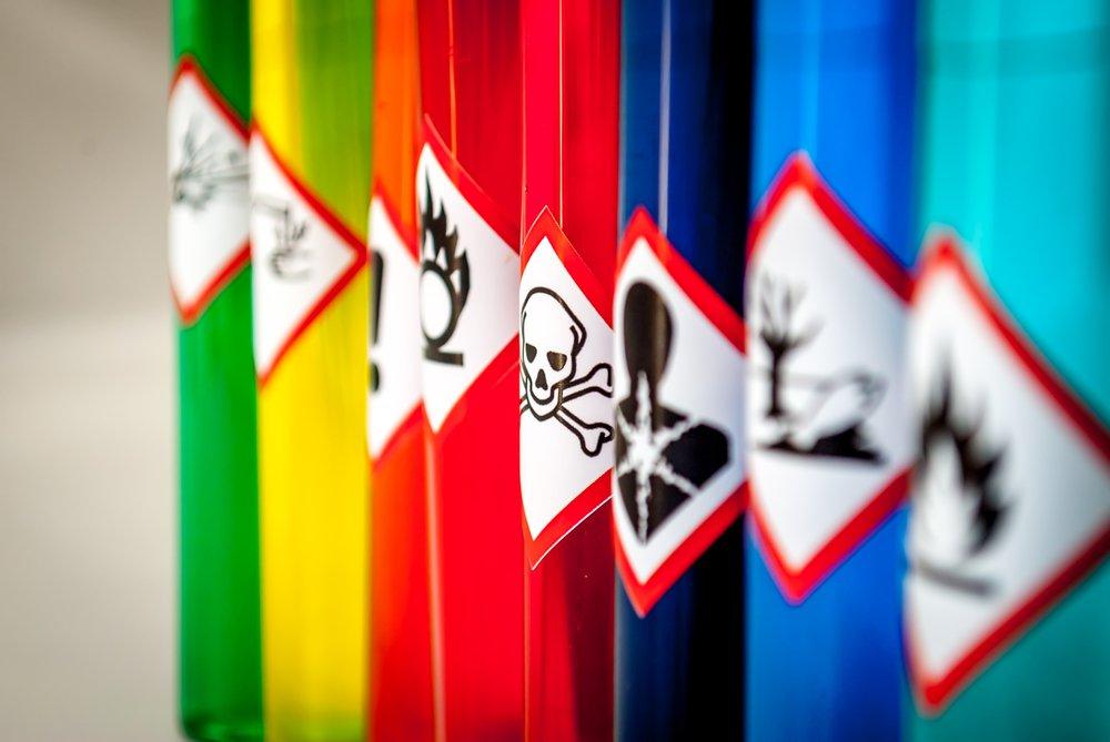 coshh hazardous symbol imagery
