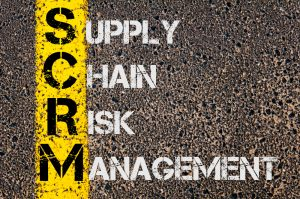 supply chain risk management written in paint