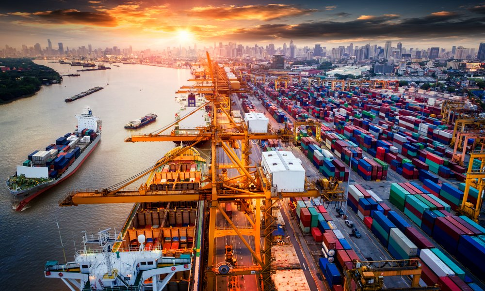 shipping containers in a port - chas blog